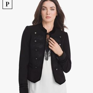 WHBM Embroidered Military Jacket 00
